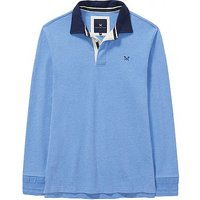 Crew Long Sleeve Rugby Shirt in Sky Blue Marl