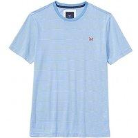 Fine Stripe T-Shirt in Sky Blue.