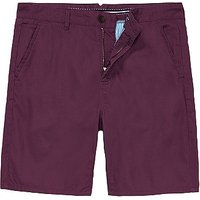 Bermuda Shorts in Washed Plum