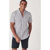 Crew Clothing Lydden Short Sleeve Recycled Cotton Slim Fit Shirt