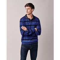 Crew Clothing Stripe Knitted Rugby Shirt