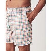 Crew Clothing Multi Gingham Swim Shorts