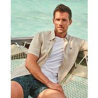 Crew Clothing Short Sleeve Relaxed Linen Shirt