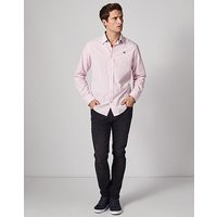 Crew Slim Fit Gingham Shirt In Classic Pink