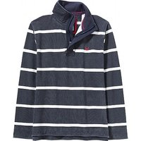 Stripe Pique Sweatshirt in Charcoal
