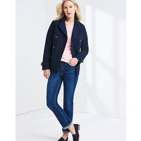 Cotton Reefer Jacket In Dark Navy