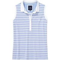 Sleeveless Polo Shirt In Blue