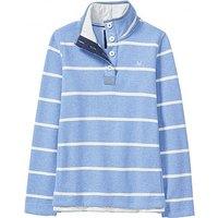 Half Button Sweatshirt In Bluebell Blue