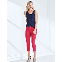 Cropped Skinny Jean In Bright Rose