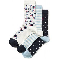 3 Pack Floral Bamboo Socks