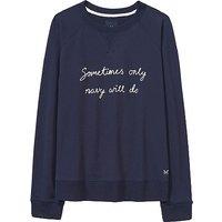 Embroidered Sweatshirt in Heritage Navy