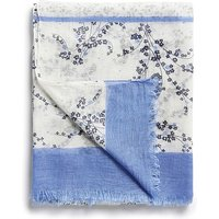 Valley Ditsy Panel Scarf in White Navy