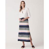 Crew Clothing Multi Stripe Maxi Skirt