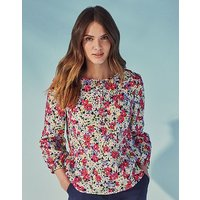Crew Clothing Linen Printed Blouse