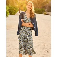 Crew Clothing Wrap Tiered Jilly Dress