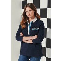 Crew Clothing Williams Racing Chequered Flag Rugby Shirt