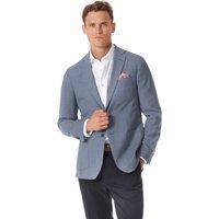 Italienischer Blazer Slim Fit Wolle in Hellblau
