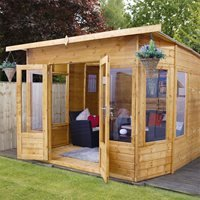Helios Wooden Garden Summer House by Mercia - 10' x 8'