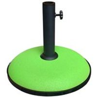 Product photograph showing 15kg Concrete Parasol Base In Lime Green