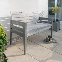 Product photograph showing Grigio 2 Seat Wooden Garden Bench