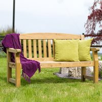 ZEST 4 LEISURE WOODEN EMILY GARDEN BENCH - 4ft