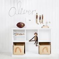 Oliver Furniture Seaside Horizontal Low Shelving Unit in White - 3 x 2 unit