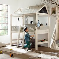 Limited Stock! Life House Kids Cabin Bed with Step Ladder