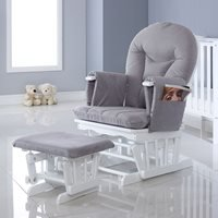 Product photograph showing Ickle Bubba Alford Glider Chair And Stool
