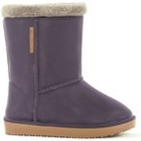 Waterproof Sheepskin Style Kids Snug-Boot Wellies in Purple - UK 7 - 7.5 (Euro 24/25)