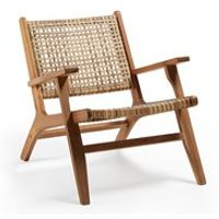 Product photograph showing Grignoon Acacia Wood Armchair
