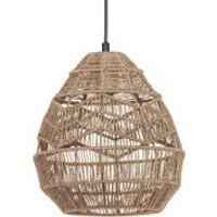 Product photograph showing Woood Adelaide Medium Pendant Light - Natural