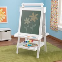 'Kids Wooden Adjustable Easel In White