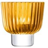 LSA Pleat Tealight Holder in Amber