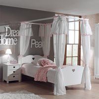 Amori Kids Four Poster Bed with Curtains