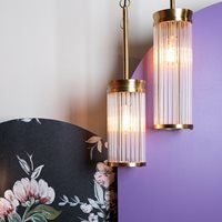 Product photograph showing Bold Monkey Angel On Fire Pendant Lamp - Large