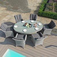 Maze Rattan Ascot Oval Dining Set  - 8 Seat