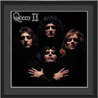 Queen Framed Album Wall Art in Queen II Print - Medium
