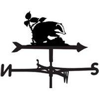 Weathervane in Badger Design - Large (Traditional)