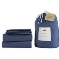 Panda London Midnight Navy Bamboo and Linen Bedding Set - SuperKing