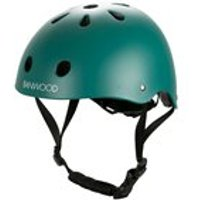 Product photograph showing Banwood Kids Cycle Helmet In Dark Green