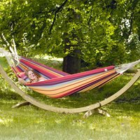 BARBADOS DOUBLE HAMMOCK SET in Rainbow