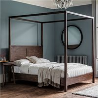 Beatnik Four Poster Bed in Brown - King
