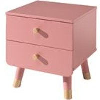 Product photograph showing Billy Bedside Table - Satin White