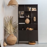 Product photograph showing Woood Gravure Display Cabinet - Natural