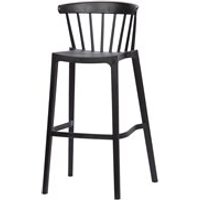 Woood Pair of Bliss Outdoor Bar Stools - Jade Green