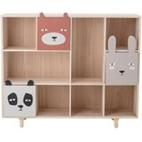 Product photograph showing Bloomingville Bookcase With Animal Drawers