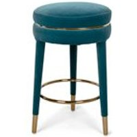 Product photograph showing Bold Monkey I Am Not A Macaron Counter Stool - Teal Blue