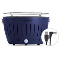 Lotus Grill Mini BBQ with Free Fire Lighter Gel and Charcoal - Blue