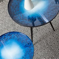 Zuiver Flow Set of 2 Nesting Tables in Blue Oil Drop
