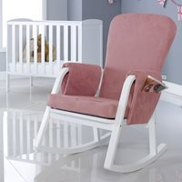 Product photograph showing Ickle Bubba Dursley Rocking Chair - Blush Pink